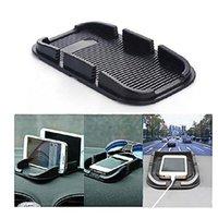 Anti-slip Mats Car Accessories Silicone Material Creative Dual Card Slot Phone GPS Navigation Anti Slip Mat 17.6*11cm Sticky Pad