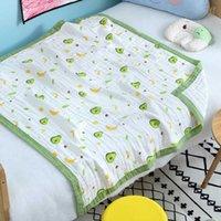 Moda 6 Katmanlar Muslin Pamuk Bebek Uyku Battaniye Kundaklama Nefes Bebek Çocuk Çocuk Bebek Battaniye 110 * 110 cm Yorgan