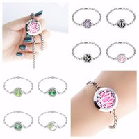 25mm Twist Screw Stainless Steel Essential Oil Perfume Diffuser Locket Bracelet 10pcs Pads Bangle