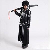 Kılıç Sanatı Online Cosplay Kostüm Kirigaya Kazuto Robe Anime Sao Kirito Uzun Palto Siperi (Cloak + Kemer + Omuz Askıları) Anime Kostümleri