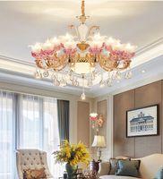 Modern LED Flower Crystal Lampadario Lampadari per soggiorno Light Soffitto Lampada a sospensione indoor