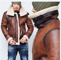 Mens d'hiver Mans Automne et hiver Moto Cuir Mens Fermeture à glissière en laine Feuillefil à chaud Veste Asiatique Taille Asiatique M-4XL