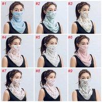 Masque Femme Masque Été Créatif Créatif Créatif Soleil Émoite Soie Soie de soie Vente en plein air Solide-poussière à l'épreuve de la poussière en gros