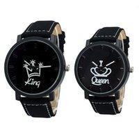 Par recente de rainha Krong Kroon Fuax couro de quartzo analógico relógios cronógrafo 2021 wom reloj mujer