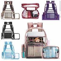Рюкзак 2 шт. / Комплект моды прозрачная желе сумка прозрачный ПВХ ноутбук пакеты путешествия сумки на плечо сумки макияж унисекс
