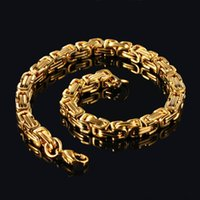 Charm Bracelets Fashion Trend Luxury Men's Stainless Steel Gold Color Personality Bracelet Jewelry Gift Wholesale