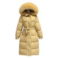 Light Luxuryautumn Off Stagione Down Giacca in cotone 2020 Nuova Giacca da pane addensata da donna e inverno a metà donna, marchio stella con cappuccio