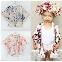 Baby Girl Vêtements Mignon Summer Manteaux Manteaux Filles Filles Fleur Fleur Tassel Kimono Cardigan Cardigan Tops Tenue Vêtements pour enfants B47