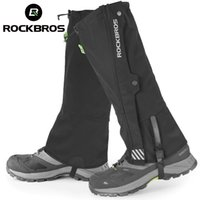 Rockbros étanche jambe chauffe-jambe protecteur de genou randonnée pédestre ski trekking désert bottes chaussures couvre les jambes protection protection