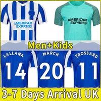 Brighton 2021 2022 Fussball Trikots MOOY Wey Weoster Trossard Maupay März Lallana Mac Allmine 21 22 Home Away Männer Kinderanzug Set Blue Football Hemd Hove Albion