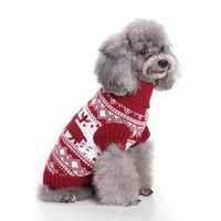 Dog Apparel Christmas Clothes Knitted Turtleneck Sweater Pet Puppy Knitting Costume Decor Outfits Supplies