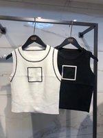 Estate Casual Casual White Black Tank Tops Donna 2021 Streetwear Gilet Senza maniche Crop Top Tees di base