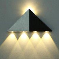 5W RGB LED Wandleuchte Auf und ab Zwei Seiten Dreieck Hintergrund Treppenlicht Schlafzimmer Bühneneffektkorridor Gang