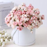 Fleurs décoratives Couronnes Artificielles Camélis Rosette Rosette Mariée séchée Tenant de faux décorations de fleurs Décoration de mariage Décoration de la maison