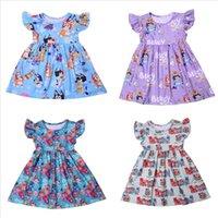 Princess Dress For Girls Flutter Sleeve Dress Cartoon Cocomelon Baby Girl Vestiti Latte Seta Casual Bambino Girl Dress Summer Dress 210319