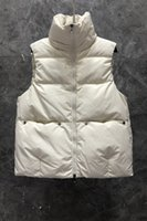 Xiaozi West Stand Collar Fashion Lightweight down Womens Vests Winter Clothing European Goods New Casual Versatile Outerwear 9BB