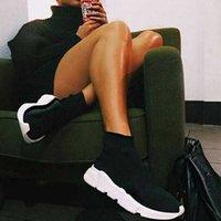 뜨거운 판매 원래 파리 여성 남성 양말 워킹 신발 검정색 흰색 빨간색 속도 트레이너 스포츠 운동화 탑 부츠 캐주얼 구두 유로 36-47