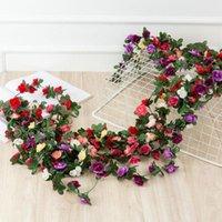 Декоративные цветы венки 250 см искусственный шелк роза виноградная виноградная виноградная виноградная виноградная виноградная виноградная лоза