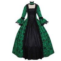 캐주얼 드레스 레이디 레트로 대형 스윙 단단한 허리 중세 맥시 드레스 코스프레 할로윈 의상