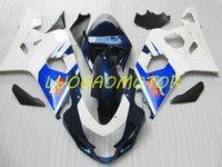 Injecion Motorcycle Cowling Fairings kit for SUZUKI GSXR 600 750 GSXR600 GSXR-750 Bodywork 2004 2005 Fairing kits ABS Free Custom Gift 04 05 White Black Blue