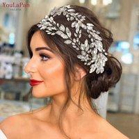 YouLaPan HP304 Bridal Tiaras for Wedding Hair Piece Crystal Headpiece Headpieces Bride Jewelry 211006