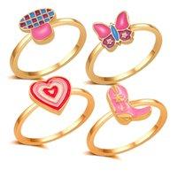 여성용 버섯 나비를위한 대량 보석 도매 손가락 반지 크리스마스 귀여운 선물