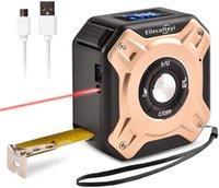Électronique Tape laser Mesurer 2-en-1 Electronique, L 40m, T 5M, Multifonctionnel L D Mètre avec écran numérique LCD pour le volume de la zone de distance