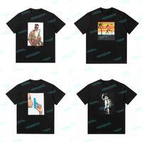 20FW Pharoah Sanders Yaz T Gömlek 21ss Raphael Kaplumbağa Siyah Beyaz Tee Man Kadın Tasarımcı Kısa Kollu Boyut S-XL