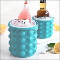 Ice Barware Kitchen, Dining Bar Home & Gardenice Buckets And Coolers Sile Bucket Champagne Whisky Beer Cube Maker Portable Wine Cooler Kitch