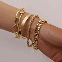 Bangle Bracelet Bohemian Gold Pearl Beads Chains Multilayer for Girls Punk Jewelry Trend Lady Charms Womens