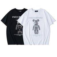 Man T shirt Summer Round Collar Simple Fashion Creative Short Sleeved Minimalist Print Black Women Clothing Size M-XXL