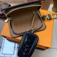 Luxurys 동전 지갑 편지 인쇄 키 체인 금속 버클 수제 Unisex 디자이너 남성 여성 펜던트 키 케이스 지갑 액세서리