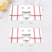 2Pcs Multifunctional Sewing Machine Presser Foot Rolled Accessories Set Notions & Tools
