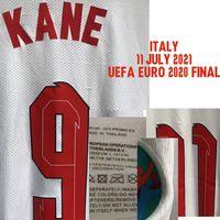 Colecionável 2021 EUR Final Final Jogador desgastado Problema Shaw Kane Foden Esterlina Personalizado Qualquer Número de Nome com Tag de Lavagem Futebol Patch Badge