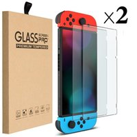 2pcs in 1 Package 9H Ultra Thin Premium Tempered Glass Screen Protector Film HD Clear Anti-Scratch For Nintendo Switch Lite With Retail Package