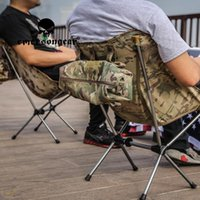 Chaise pliante tactique Chaises de camping quotidien Poisson en plein air Pêche Multicam Protables Chaises avec accessoires pliables de plage de pêche au dos