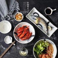 Platos platos kinglang diseño japonés soltero vajilla de cerámica sushi placa restaurante coreano al por mayor ramen tazas wasabi salsa plato
