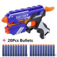 2020 New Plastic Toy Gun For NERF Elite Blaster With Soft EVA Foam Bullet Darts Kids Boys Girls Cosplay