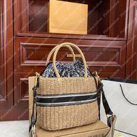 2021 Korb Tasche Frauen Handtasche Designer Womens Umhängetaschen Handtaschen Luxurys Designer Taschen Wicker Bag Totes Geldbörsen Rucksack 21031802l