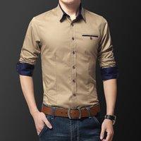 Четыре сезона мужская деловая рубашка с длинными рукавами Корейский тонкий классический модный повседневный формальный мужчина модный бренд платья рубашки