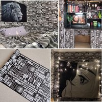Wallpapers Boys Dormitory Wallpaper Self-adhesive Bedroom Decoration Desk Wall Stickers Net Red Furniture Renovation