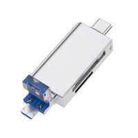 5 en 1 Lector de tarjetas de memoria Multifunción USB 3.0 Tipo C / USB / Micro USB / TF OTG Tarjetas Adaptador Accesorios para teléfonos móviles