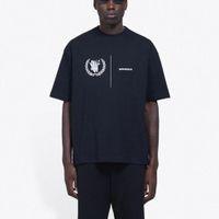 20ss WFFP World Foot ProgGramme Tee 패션 편지 인쇄 통기성 T 셔츠 캐주얼 루즈 솔리드 티셔츠 남성 여성 짧은 소매 HFYMTX623