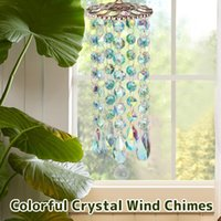 Decorative Objects & Figurines Chandelier Wind Chimes Coating Crystal Prisms Hanging Suncatcher Rainbow Chaser Window Curtains Pendant Home