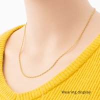 2021 Classic Woman Stainless Steel Necklace Chain for jewelry sets Ball Snake Cross O Cable Box Cuban Link italian