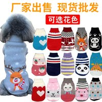 New Sweater Factory Direct Supply Autumn and Winter Cat Dog Clothes Cat Dog Knitwear Foreign Trade