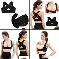 Back Safety Athletic Outdoor As Sports & Outdoorsback Support Women Ladies Adjustable Shoder Posture Corrector Chest Brace Belt Vest Est Arr