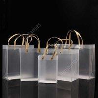 Mezza traspareta Borse in PVC smerigliata Borsa da regalo Makeup Cosmetici Imballaggio universale Plastica Borse trasparenti Round / Flat Rope 10 Taglie per scegliere DAJ219