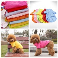 Pet Clothes Dog Short Sleeves T Shirt Apparel Vests Cute Summer Outfits