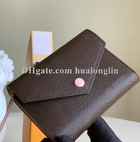 High Quality wallet women woman purse card holder original box flower grid checkers serial number date code